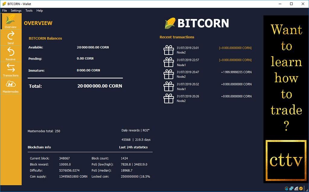 BITCORN Wallet v3
