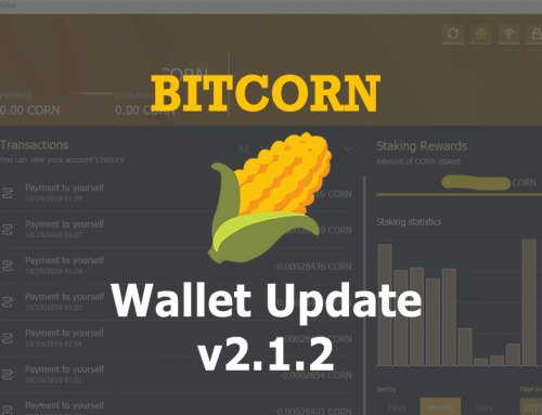 BITCORN Wallet Update v2.1.2