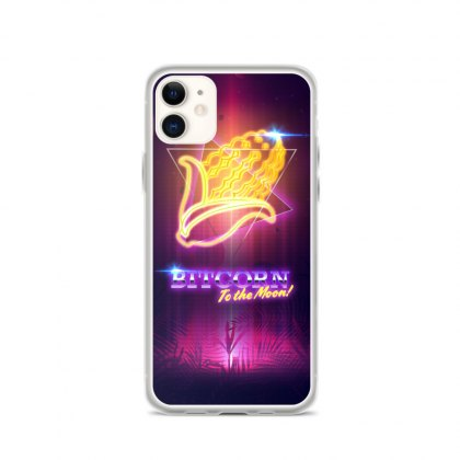 BITCORN Retro Moon iPhone Case