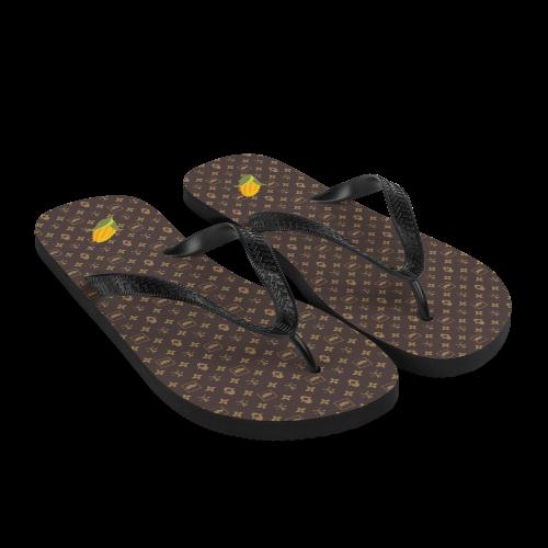 BITCORN Corny Vuitton Flip-Flops