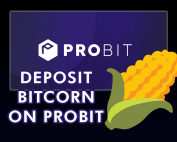 Depositing BITCORN on the ProBit Exchange